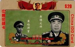 TARJETA TELEFONICA DE CHINA. MILITARES, IDD CARD (142) - Armada