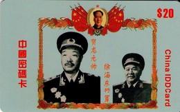 TARJETA TELEFONICA DE CHINA. MILITARES, IDD CARD (143) - Armada