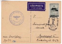 M352 De 30 Années Union Soviétique 1947 XI. 25. Budapest 72, 30 Years Old Is The Soviet Union By Special Airmail Flight - Poste Aérienne