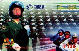 TARJETA TELEFONICA DE CHINA. MILITARES (147) - Armada