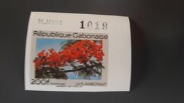 GABON 1991 FLOWERS ROSES FLORE FLEURS - IMPERF IMPERFORATE ND NON DENTELE - RARE MNH - Gabon (1960-...)