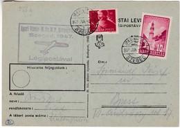 M355 Foire Industrielle 1947 JUN. 5. Szeged, Industrial Fair By Special Airmail Flight Vol - Airmail