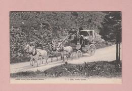 AK OZ Poste Suisse Postkutsche Ges. 12.08.1909 Nyon Verlag J.J.#3184 - Suisse