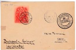 M356 Jour De Vol De Szolnok 1938 JUL.3. Budapest 20 Airport Budapest-Szolnok By Special Airmail Flight Vol - Airmail