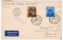 M357 Jour De Vol De Szolnok 1938 JULIUS 3. Szolnok-Budapest 20 Airport By Special Airmail Flight Vol - Airmail