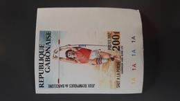 GABON 1992 BARCELONA OLYMPIC GAMES SAUT PERCHE JUMPING POLE VAULT - IMPERF IMPERFORATE ND NON DENTELE - RARE MNH - Gabon (1960-...)