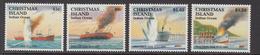 1992 Christmas Island 50th Anniv Sinking Of Boats Set Of 4 MNH - Christmas Island