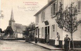 CPA - SAINT-SYMPHORIEN (27) - Thème : Arbre - Aspect Du Pommier Taillé En Espalier Sur Le Caillebotis Du Restaurant - Sonstige Gemeinden