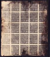 1926 Apport A La Gare 1.50 Franc; 25-er Block; Unsauberer Druck - Colis Postaux