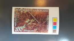 GABON 1993 CHASSE A LA TRAPPE  - IMPERF IMPERFORATE ND NON DENTELE - RARE MNH - Gabon (1960-...)