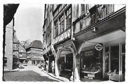 Cpsm: 22 DINAN - Vieilles Maisons (Animée, Epicerie François Mascaro, Plaque Pub Frigidaire)   1966  N° 222.22 - Dinan