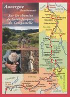CPM-AUVERGNE-Chemins De Saint-Jacques De Compostelle -SUP**2 SCANS - France