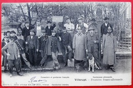 Cpa 54 VILLERUPT Frontiere Franco-allemande - France