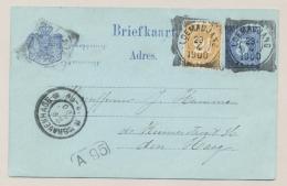 Nederlands Indië - 1900 - 5 Cent Willem III, Briefkaart G10 + 2,5 Cent Cijfer Van VK LOEMADJANG Naar Den Haag / NL - Nederlands-Indië