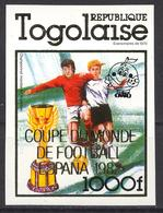 Football / Soccer / Fussball  - WM 1982: Togo  1 W **, Imperf. - Coupe Du Monde