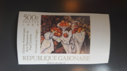 GABON 1989 FRUITS ORANGE ORANGES - IMPERF IMPERFORATE ND NON DENTELE - RARE MNH - Gabon (1960-...)