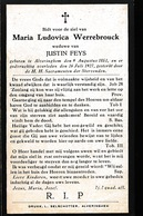 MARIA WERREBROUCK    ALVERINGHEM  1851    1927 - Obituary Notices