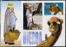 TUNISIA - DJERBA - EDITIONS MIRAGE -  VIAGGIATA 2005 FRANCOBOLLO ASPORTATO - Tunisia