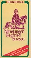 Ferienstrasse Nibelungen - Siegfried - Strasse Reiseführer 1990 35 Seiten - Reiseprospekte