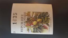 GABON 1989 FRUITS TREES FLORE FLOWERS - IMPERF IMPERFORATE ND NON DENTELE - RARE MNH - Gabon (1960-...)
