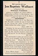 JAN WALLAERT    ALVERINGHEM  1863   1932 - Avvisi Di Necrologio