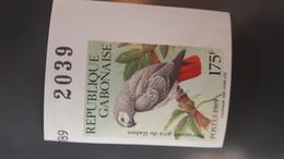 GABON 1989 BIRDS PARROTS PERROQUETS PARROT PERROQUET OISEAUX - IMPERF IMPERFORATE ND NON DENTELE - RARE MNH - Gabon (1960-...)