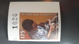 GABON 1991 ARTISANAT CRAFTCRAFTS HANDICRAFT HANDICRAFTS - IMPERF IMPERFORATE ND NON DENTELE - RARE MNH - Gabon (1960-...)