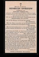 HENRICUS ANSEEUW      ALVERINGHEM  1858   1927 - Décès