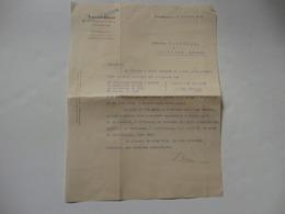 Lettre De Xavier Brun 6, Rue Du Maréchal Pétain à Strasbourg (67) à Mr Grandpré à Agonges (03). - France