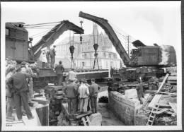 Photo 25 Doubs Montbéliard Construction Du Pont Du Chemin De Fer Fin Années 50 - Lieux
