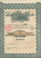 ACTION 300 FRS -FILATURE DE LAINES A TRICOTER DE BISCHWILLER(BAS-RHIN ) 1924 - Textile