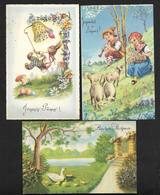 Pâques - 3 Cartes Postales Anciennes CPA - Pâques