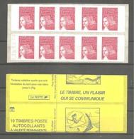 """CARNET Pour Distributeur SAGEM. Y&T N° 3419 - C3Aa ** LUQUET RF. Neuf. Daté + Découpe Couverture à Cheval """" LUXE. - Carnets"""