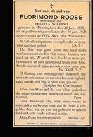 FLORIMOND ROOSE      ALVERINGHEM  1853  1926 - Obituary Notices