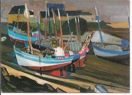 """L20G270 - Peintres De Bretagne - Kerinec - """"Les Langoustiers De Mogueriec - Editions Jos - Peintures & Tableaux"""