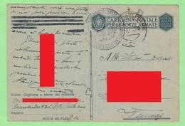 Reggimento Costiero Sardegna  X Vicenza  1943 Franchigia Regio Esercito Posta Militare - Military Mail (PM)
