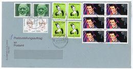 Postzustellungsauftrag MIF Mit U. A. Sechswrblock Nr. 1381 - BRD