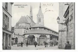DOURDAN  (cpa 91)  Les Halles  -  L 1 - Dourdan