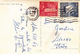Aden To Livorno Su Post Card  1963 - Yemen