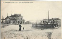 Val D'oise : Argenteuil, La Gare De La Grande Ceinture - Argenteuil