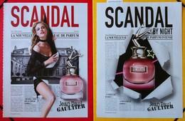 J-P Gaultier - Lot De 2 Publicités Scandal - Cartes Parfumées