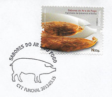 Portugal 2013 Porc Cochon FDC Cachet Premier Jour Funchal Madère Pork Pig Sausages Gastronomy Madeira Postmark FDC - FDC