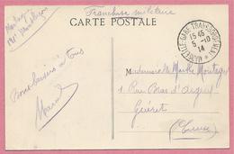 """Sur CP MARSEILLE - Cachet En Franchise """" MARSEILLE GARE TRANSBORDEMENT """" - 1914 - 3 Scans - France"""