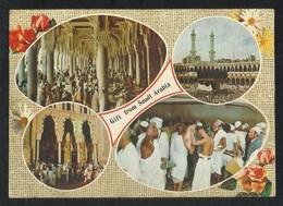 Saudi Arabia Picture Postcard Holy Mosque Ka'aba Mecca Islamic 4 Scene View Card - Arabia Saudita