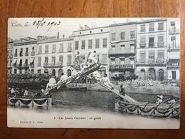 (34, Sport Nautique) SETE: Les Joutes Cettoises: En Garde, 1903. - Sete (Cette)