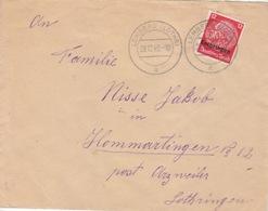 Lettre De Lemberg (T 329 Lemberg Lothr A) TP Lothr 12pf=1°éch Le 28/12/40 Pour Arzweiler - Marcophilie (Lettres)