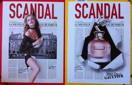 J-P Gaultier - Lot De 2 Publicités Scandal - Perfume Cards