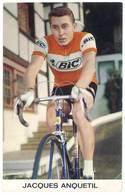 Carte ( Verso Vierge ) Jacques Anquetil , Publicité BIC - Cyclisme