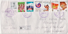 Postal History Cover: South-Korea R Cover With Olympic Games Stamps And Cancels - Summer 1988: Seoul
