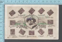 Timbres - , Signification Amoureuse De La Position D'un Timbre Sur Une Lettre Ou Carte CPA  -  ED: MF Paris 552 - Timbres (représentations)